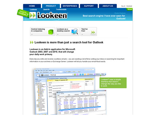дизайн сайта lookeen